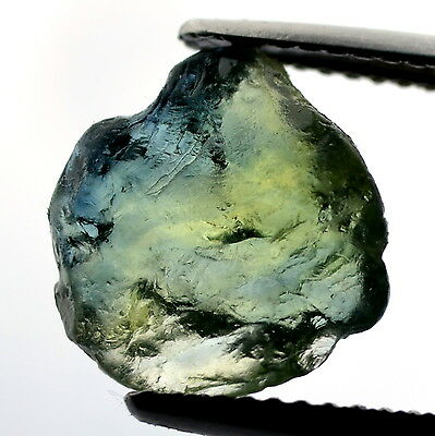 █50%OFF█ NATURAL UNHEATED 4.14ct FACET GREEN ROUGH SAPPHIRE WAFER MADAGASCAR VVS