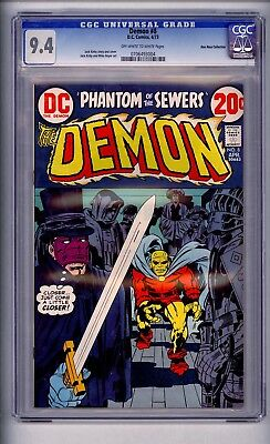 Cgc Demon. Kack Kirby  8 Nm 9.4 1973  Don Rosa Copy. Offw-White Pages