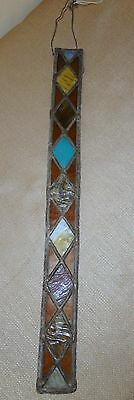 Unusual Leaded Stained Glass Color Strip Wall Hanger Sun Catcher