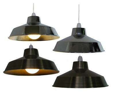 "14"" Retro Industrial Metal Coolie Lampshade Ceiling Light Shade Fitting Pendant"