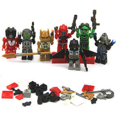 Kids Gift lot 7 TRANSFORMERS KRE-O KREON Robots Building mini Figure Toy FW197