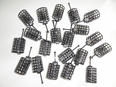 20 x Round Metal Cage Feeders - 30 grams.  Carp / Coarse fishing