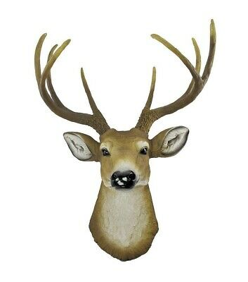 Buck Deer Head Bust Hanging Wall Mount Home Decor Collection Statue Figurine