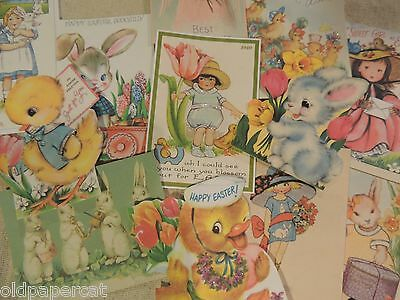 Lot of 12 CHARMING Vintage EASTER Die Cuts 4 SCRAPBOOKING ~ E14 FREE SHIP
