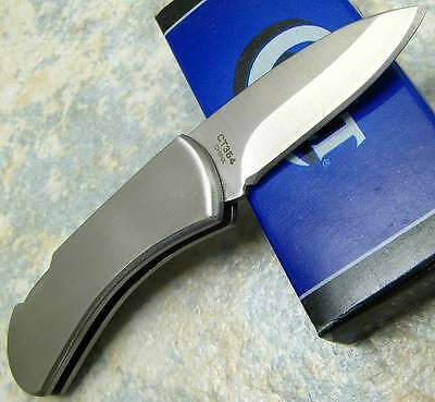 COLT MINIATURE SMALL Brush Stainless Handle Folding Blade LOCKBACK Pocket Knife