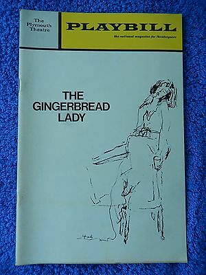 The Gingerbread Lady - Plymouth Theatre Playbill - Opening Night - December 1970
