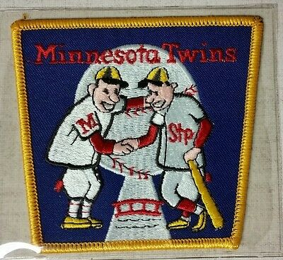 """MLB COOPERSTOWN COLLECTION 4"""" x 3.5"""" PATCH - 1965 MINNESOTA TWINS PATCH - NIP!"""