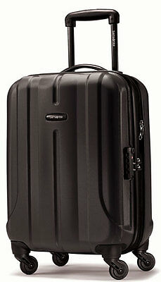 "Samsonite Fiero 20"" Carry On Spinner 4 Wheeled Hardside Upright Luggage - Black"