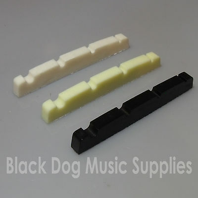 Graphite four string bass guitar nut 38mm x 3.5mm black, white or Ivory colour