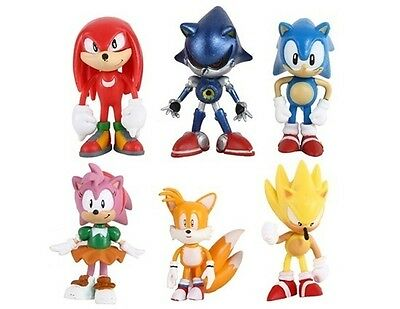 Sonic the Hedgehog Tails Playset 6 Figure Cake Topper * USA SELLER* Toy Doll Set