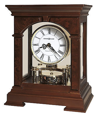 635-167  Statesboro Howard Miller   Mantel Clock  In Cherry Brodeaux Finish