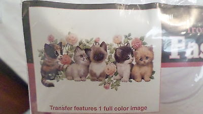 "NIP 1993 Dimensions Cat Kitten Iron On Fashion Art 80148 ""Cute Kittens"""