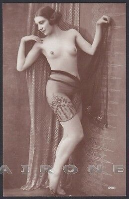 EROTISMO RISQUE NUDE - FRENCH NUDE WOMAN 14 EROTIC - REAL PHOTO Postcard