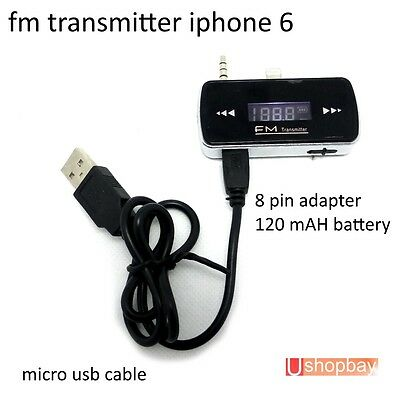FM Transmitter Micro Usb Audio Handsfree for iPhone 6 with 3.5mm Jack
