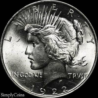 1922 Peace Dollar ~ BU Uncirculated ~ LUSTER! ~ 90% Silver US Coin