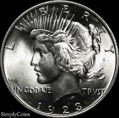 1923 Peace Dollar ~ BU Uncirculated ~ LUSTER! ~ 90% Silver US Coin