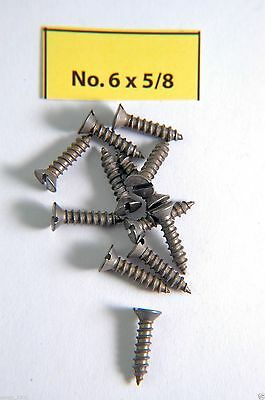 "Wood Screws Flat Head Slotted Steel #6 X 5/8"" WS658"