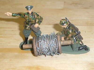 1/32 Scale Coiled Barbed Wire Length & Handled Running Spool For Scenes&dioramas