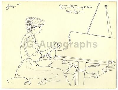Ursula Oppens - Pianist & Educator - Signed Pen & Ink Illustration by Georges