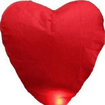 Wholesale Red Heart Shape Fire Sky Wish Chinese Paper Lantern Wedding Party 2015