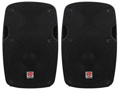 "2) Rockville SPG88 8"" Passive 800W DJ PA Speakers ABS Lightweight Cabinet 8 Ohm"