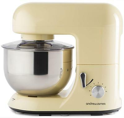 Andrew James 5.2L Electric Food Stand Mixer & Food Guard In Classic Cream