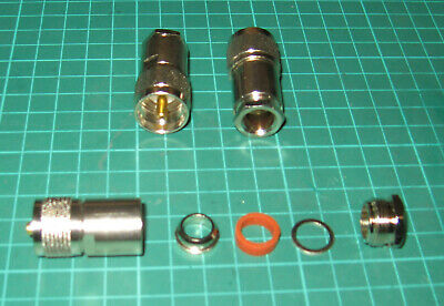 ONE PL259 Plug Male Connector Clamp Type COAX RG213 / 214 TOP QUALITY HF