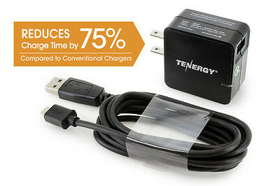 Tenergy 18W Quick Charge 2.0 USB Wall Charger for Galaxy S6/Edge/Plus, Note