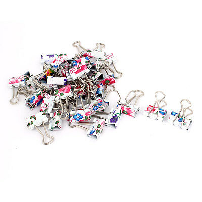 40 Pcs Colorful Metal School Office Document Organize Bookbinding Binder Clips