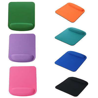 Square Mouse Pad With Wrist Rest  Fabric (Front)-7 Colors