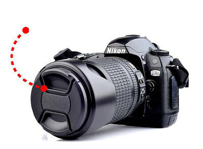 49mm Center Pinch Snap on Front Cap Cover For Canon Nikon Lens Filter DSLR