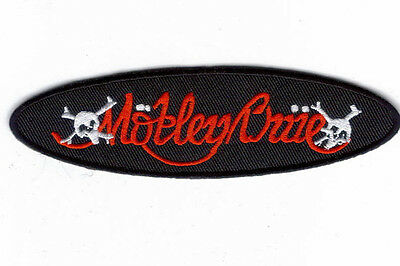 Motley Crue Oval Skulls Logo Embroidered Patch !