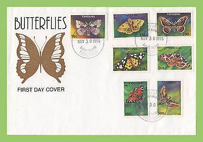 Tanzania 1996 seven values Butterflies First Day Cover
