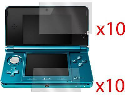 10x LCD SCREEN PROTECTOR COVER GUARD & CLOTH FOR NINTENDO 3DS