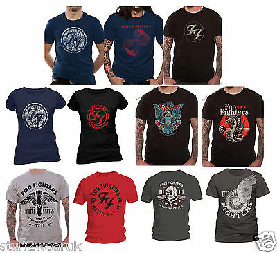 OFFICIAL Foo Fighters T Shirt Sonic Highways Eagle Gold Red Logo Wasting Light