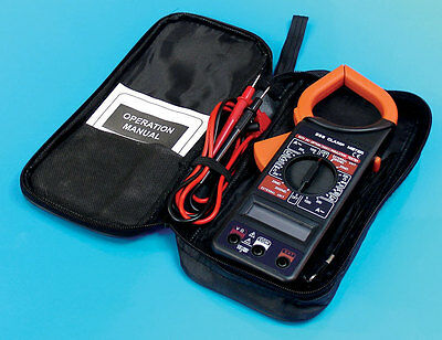1000 Amp Hand Held Digital Clamp Volt Multi Meter Tester With Battery Uk