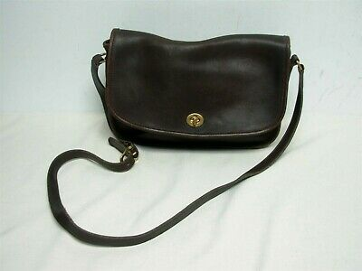 ad7315fb9840 Vintage Authentic Coach Chocolate Brown Classic City Cross Body Handbag  Purse