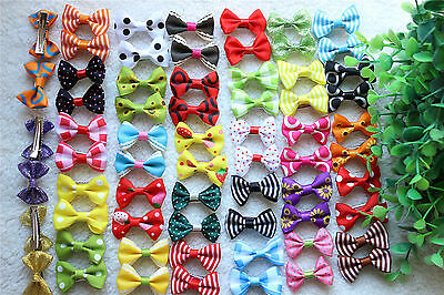 Hot Pet Hair Bows Rubber Bands/Clips Cute Bowknot Dog Hair Bows Grooming Product