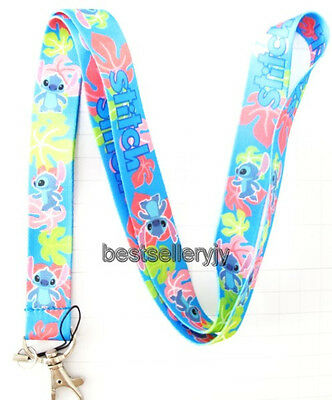 New 10 Pcs Lilo & Stitch Neck mobile Phone lanyard Keychain straps charms Gifts