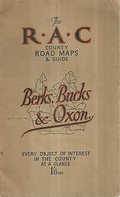 Berkshire Buckinghamshire Oxfordshire R.A.C. County Road Maps Atlas