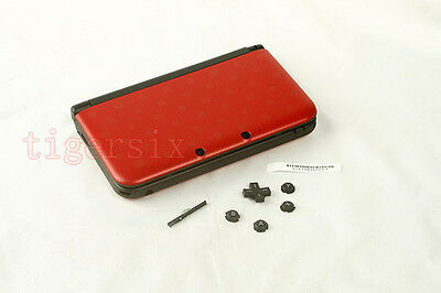 Ta Red Repair Housing Shell Case Cover Part+Buttons for Nintendo 3DS XL 3DSXL