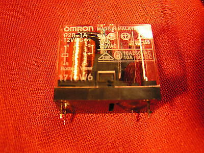 Omron Relay G2R-1A 12VDC Coil,SPST-NO Switching 10A 250VAC/30VDC OM0341