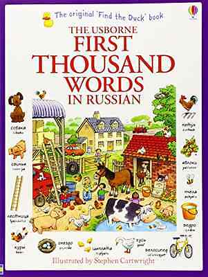 First Thousand Words in Russian (Usborne First Thousand - Amery, Heather NEW Pap