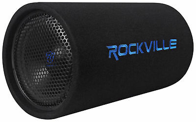 """Rockville RTB10A 10"""" 500w Powered Subwoofer Bass Tube + Bass Remote"""