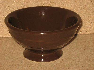 Longaberger Pottery Rare Ice Cream Bowl One Day only Chocolate Brown NICE!