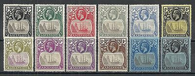 Ascencion stamps 1924 SG 10-20  MLH  VF