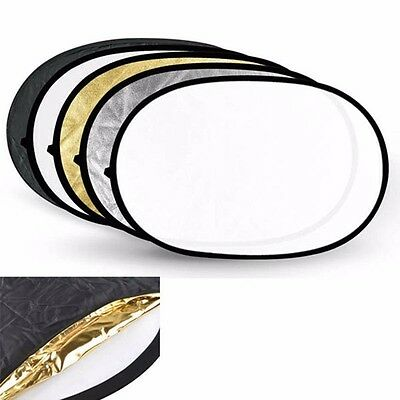 "24""x36"" 60x90cm 5-in-1 Photography Studio Photo Collapsible Light Reflector"