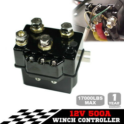 12V Winch Controller Solenoid 500A DC Switch Recovery 4WD 4x4 Boat ATV Control