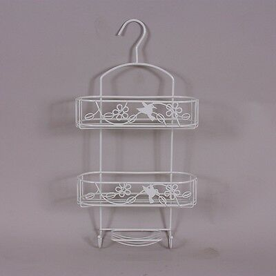 3 Tier Hanging Organiser Rustproof White Shower Tidy Storage Basket Caddy Rack