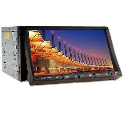 "Double 2 Din Car DVD Player 7""Digital Touchscreen TV Bluetooth iPod Radio Stereo"